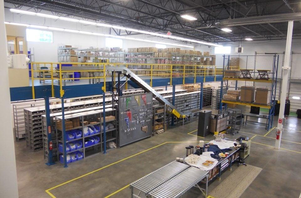 Warehouse Steel Mezzanine Systems | Cranston Material