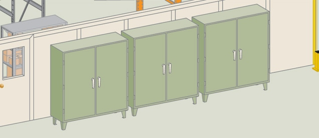 Industrial Drawers and Storage Cabinets