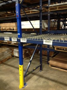 Curbell pallet rack damage after