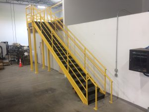 Safety Stairs for Mezzanine