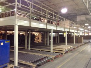 What is a warehouse mezzanine?